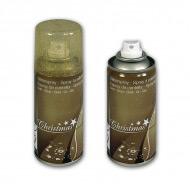 Спрей краска - лак золотая для новогоднего декорирования в аэрозольном баллончике