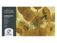 Набор акварельных красок Royal Talens Van Gogh National Gallery 12 кювет, металлический короб