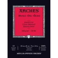 Альбом для масла Arches Huile 300г/кв.м 23*31см 12листов склейка по короткой стороне
