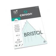 Альбом для графики Canson Bristol 250г/кв.м 29.7*42см 20листов Гладкая склейка по короткой стороне
