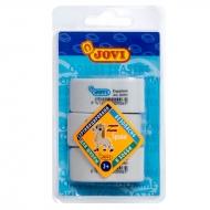Набор ластиков Ergoplast Jovi 3 шт., форма капли, натуральный каучук