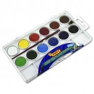 Акварельные краски JOVI, набор 12 цветов с кистью