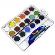 Акварельные краски JOVI, набор 18 цветов с кистью