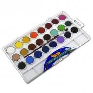 Акварельные краски JOVI, набор 24 цвета с кистью