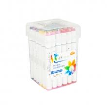 Набор художественных двусторонних маркеров для скетчинга, пластиковый бокс с ручкой, 36 цветов