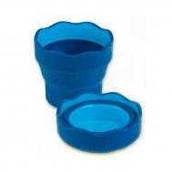 Складной стакан для воды Faber-Castell Clic&Go, синий