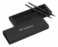 Подарочный набор: механический карандаш + шариковая ручка Tombow ZOOM 707 De Luхe, корпус черный/серый