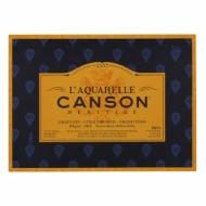 Блок для акварели Canson Heritage 300г/кв.м (хлопок) 26*36см20листов Фин склейка по 4 сторонам