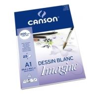 Альбом для графики Canson Imagine 200г/кв.м 59.4*84.1см 25листов Мелкое зерно склейка по короткой стороне