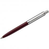 """Ручка шариковая Luxor """"Star"""" синяя, 1,0мм, корпус бордовый/хром, кнопочный механизм"""