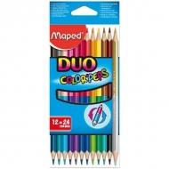 Карандаши цветные двусторонние Color Peps Duo Maped, 12 штук, 24 цвета