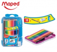 Набор для рисования Color Peps Maped  карандаши 12 цветов с доп. аксессуарами