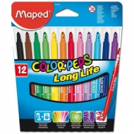 Набор смываемых фломастеров Color peps Long life Maped, 12 цветов