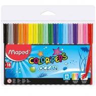 Детские смываемые фломастеры Color peps Ocean Maped, 18 цветов