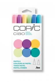 Набор маркеров Copic Ciao Pastels 6 штук в пластиковой упаковке