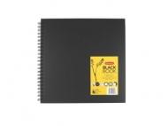 Блокнот для зарисовок Derwent Black Book 200г/кв.м 30*30см 40л,черная бумага
