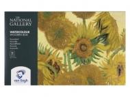 Набор акварельных красок Royal Talens Van Gogh National Gallery 24 кюветы, деревянный короб