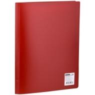 Папка с 20 вкладышами OfficeSpace, 16мм, 400мкм, красная
