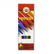 Набор цветных цельнографитных карандашей Progresso KOH-I-NOOR, 6 цветов