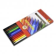 Набор цветных цельнографитных карандашей Progresso KOH-I-NOOR, 12 цветов