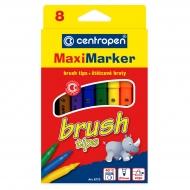 Набор маркеров с кистью Centropen Brush Maxi marker, 8 цветов