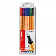Набор капиллярных ручек Point 88 STABILO fineliner, 6 цветов