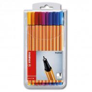 Набор капиллярных ручек Point 88 STABILO для письма, рисования и черчения, 20 цветов