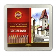 Сухая пастель в карандашах Gioconda KOH-I-NOOR для любителей и профессионалов, 48 цветов