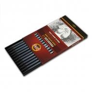 Набор чернографитных карандашей Progresso KOH-I-NOOR, тв. HB, в лаке, без дерева, 12 штук