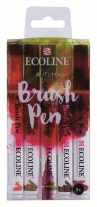Набор акварельных маркеров Royal Talens Ecoline Brush Pen Осенние 5 штук в пластиковой упаковке