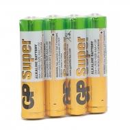 Батарейка GP Super AAA (LR03) 24A алкалиновая, SB4 (4шт. упаковка)