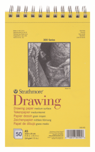 Альбом для графики Strathmore 300 Series Drawing 114г/кв.м, 14,8х21см, 50л