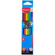 """Карандаши Maped """"Color Peps"""", 06цв., трехгран., заточен., картон, европодвес"""