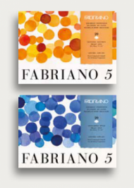 Блок для акварели Fabriano 5 300г/кв.м (50%хлопок) 36x51см Торшон 20л склейка по 4 сторонам