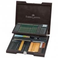"""Художественный набор для графики Faber-Castell """"Pitt Monochrome"""", 85 предметов, дерев. короб"""