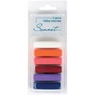 """Набор пластики для лепки Сонет """"Ягодные цвета"""", 6 цветов, 120г, блистер"""