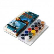 Акриловые краски для моделей Аква-Колор мини Ark Models «Корабли» матовые, 12 цветов