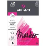 Альбом для маркера Canson Marker Layout 70г/кв.м 21*29.7см 70листов экстра гладкая склейка по короткой стороне