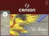 """Альбом для пастели Canson Mi-Teintes 5 """"коричневых"""" цветов 160г/кв.м 24*32см 30листов склейка"""