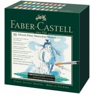 """Набор акварельных пигментных маркеров Faber-Castell """"Albrecht Dürer"""" 30 цветов, двухстор., кисть/пулевид."""