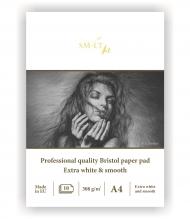 Альбом SM-LT Art Bristol pad 308г/м2 A4 10 листов склейка по короткой стороне