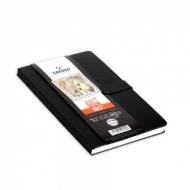 Блокнот для зарисовок Canson 180° 96г/кв.м 14*21.6см 80листов твердая обложка магнитная застежка черный