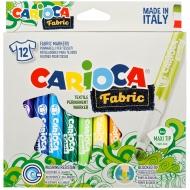 """Набор фломастеров для ткани Carioca """"Fabric Liner"""" 12цв., картон. уп."""