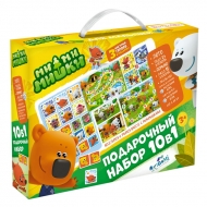 """Набор игр 10 в 1 Origami """"МиМиМишки"""", для малышей: лото, домино, пазлы, """"от 1 до 10"""", """"от А до Я"""""""