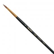 Кисти круглые синтетика 1310 ROUBLOFF, короткая ручка 00, 0, 1, 4, 7, 8