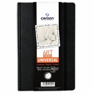 Блокнот для зарисовок Canson Universal 96г/кв.м 14*21.6см 112листов твердая обложка застежка-резинка черный