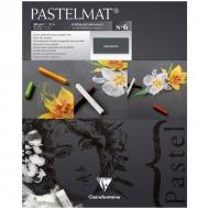 """Альбом для пастели Clairefontaine """"Pastelmat"""", 240х300 мм, 360г/м2, склейка, 12 л, бархат, антрацит"""