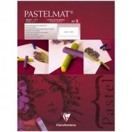 """Альбом для пастели Clairefontaine """"Pastelmat"""", 300х400 мм, 360г/м2, склейка, 12 л, бархат, белый"""