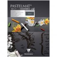 """Альбом для пастели Clairefontaine """"Pastelmat"""", 300х400 мм, 360г/м2, склейка, 12 л, бархат, антрацит"""