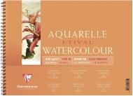 """Альбом для акварели Clairefontaine """"Etival"""", 180x240, 300г/м2, холод.пресс., спираль, 12 л."""